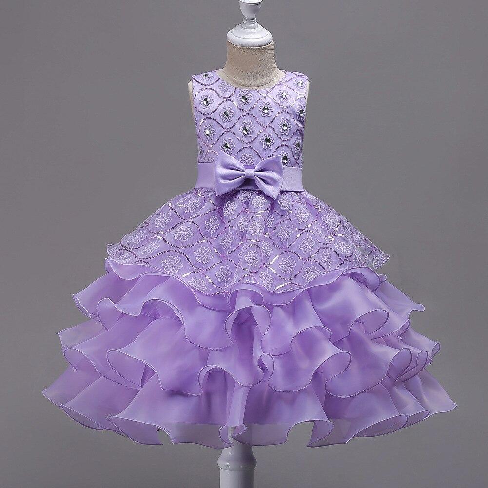 Europe And America GIRL'S Gown Princess Dress CHILDREN'S Full Dress Flower Boys/Flower Girls Wedding Dress Diamond Set Gauze Cak