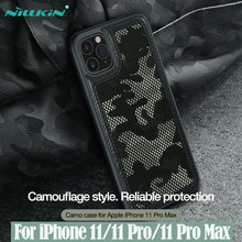 עבור iPhone 11 Pro Max פרו מקסימום מקרה NILLKIN מקרה הסוואה הסוואה דפוס בד אנטי מים מתיז חזרה כיסוי עבור iPhone 11 / 11 Pro פרו