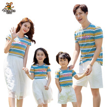 Mother Daughter T-Shirt Skirt Family Matching Outfits Summer Father Son Clothes Short Pants Men Boy Women Girl Set Family LooK family look clothing 2020 summer mother daughter dress family matching outfits father son t shirt short pants clothes set