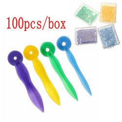 100pcs/box Disposable Dental Wedges Medical Plastic Arc Concave Design Diastema Wedges With End Circular Hole Dentist Care Tool