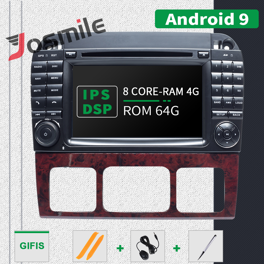 2 din Android 9.0 Car Multimedia Player GPS For Mercedes <font><b>Benz</b></font> S-Class <font><b>W220</b></font> W215 S280 S320 S350 <font><b>S500</b></font> Radio DVD Navigation Camera image