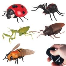 Моделирование жуков инфракрасный пульт дистанционного управления игрушки паук тараканы прикольные для Хэллоуина забавные шутки игрушки подарок для взрослых розыгрыши насекомых
