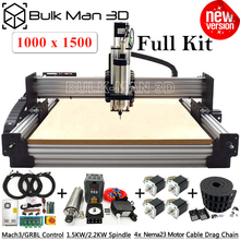 Newest 1015 WorkBee CNC Router Machine Full Kit with Tingle Tension System 4 Axis Screw Driven CNC Engraving Complete Kit