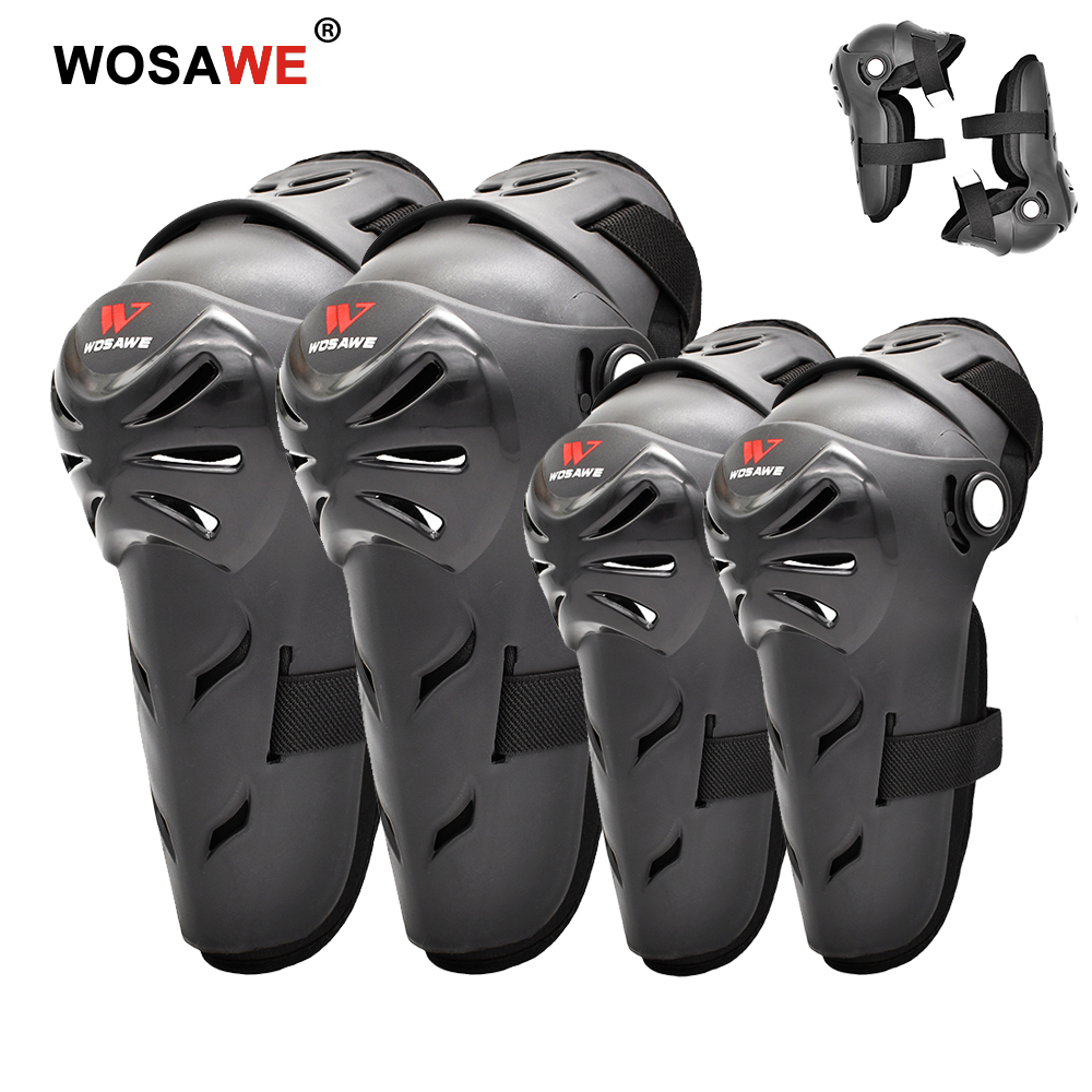 WOSAWE Motorcycle Knee Elbow Pads Motocross Rider Knee Protectors Safety Brace Guards Protective Gear