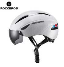 ROCKBROS Mens Ultralight Helmet Bike Bicycle In Mold Adult Safety Cycling Breathable Comfort With Goggles Len