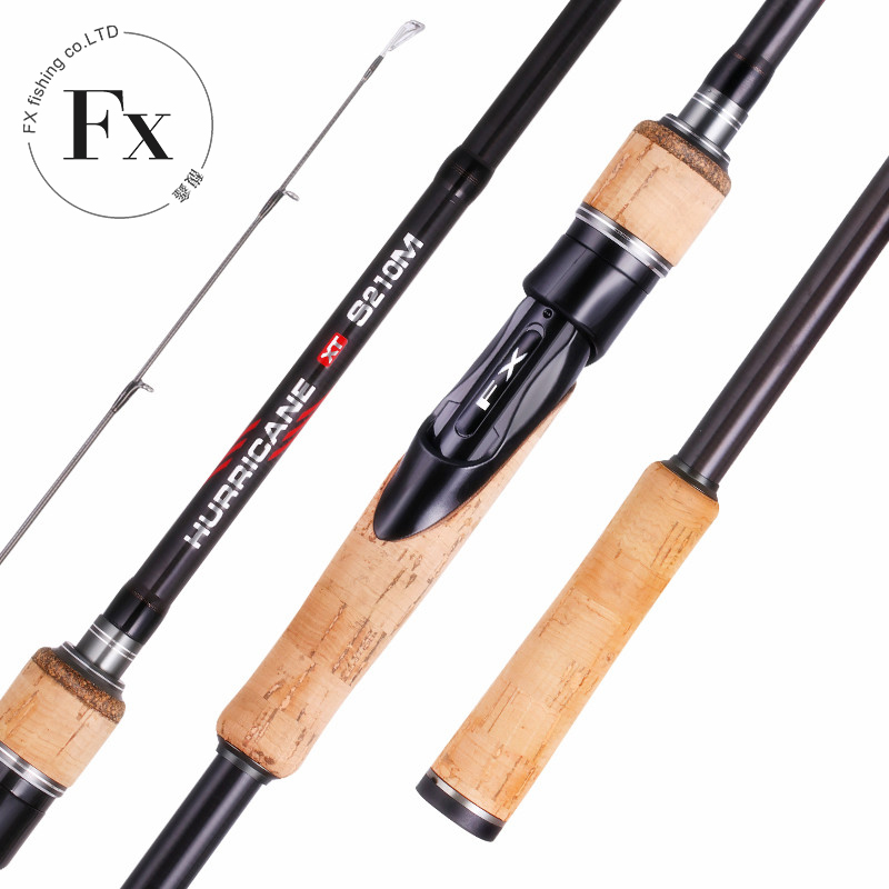 FX 1.8m 2.1m 2.4m 2.7m ML/M/MH Carbon Fishing Rod 3 Section Perigee Travel Ultra Spinning Casting 5g-40g Lure Rod Fishing Tackle