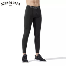 Zenph Men Sports Compression Pants Tight Under Quick Drying and Perspiration Tights Training Fitness