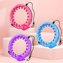 Home gym equipment smart hoola ring lose weight detachable sports fitness hoola hoops ring with exercise ball auto-spinning