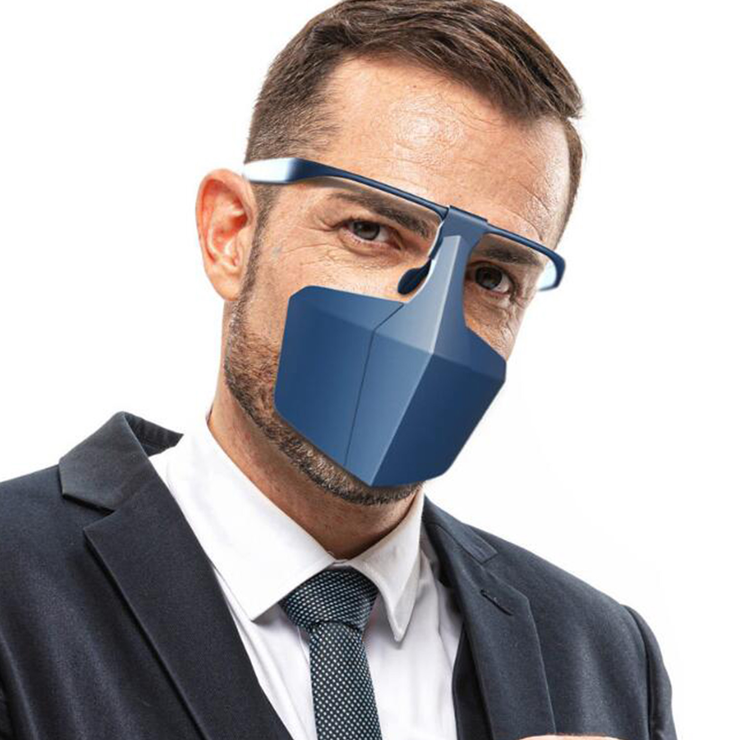Plastic Protective Face Mask Against Droplets Anti-fog Isolation Face Mask Breathable Reusable Face Protective Cover Masks