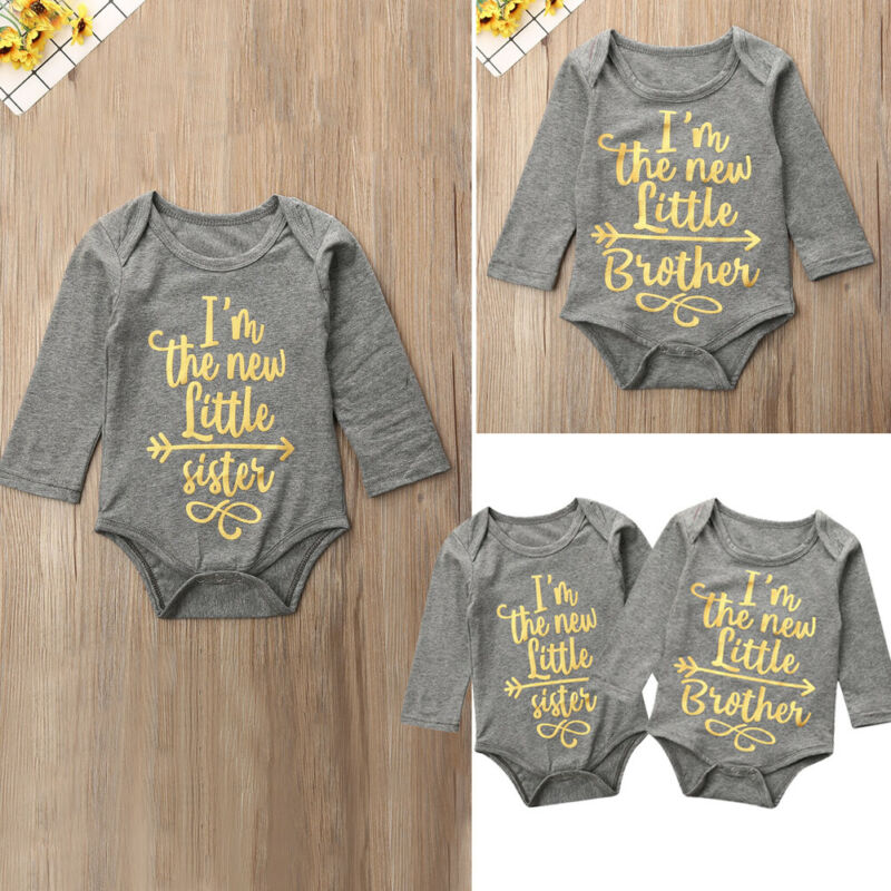 Tops Newborn Baby Boy Girl Romper Bodysuit Jumpsuit Playsuit Clothes Outfits US