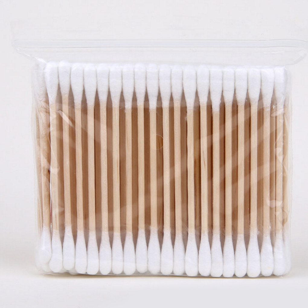 400PCS/Set Women Beauty Makeup Cotton Swab Cotton Buds Double-head Wood Sticks Ears Cleaning Cosmetics Health Care