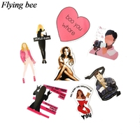 sticker motorcycle Flyingbee 35 pcs Mean Girls Movie Sticker Sexy women Stickers for DIY Luggage Laptop Skateboard Car Motorcycle Stickers X0738 (5)