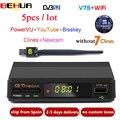 5 stücke Freesat V7S HD DVB S2 Satellite Empfänger Volle 1080P HD Rezeptor Unterstützung Cline PowerVu YouTube Biss schlüssel Set top Box PK V7 HD-in Satelliten-TV-Receiver aus Verbraucherelektronik bei