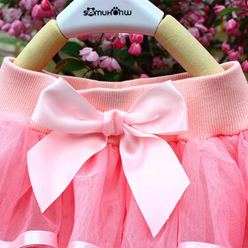 Niñas falda tutú pastel tutú Pettiskirt danza Mini falda cumpleaños princesa vestido de baile ropa para niños 4 capas faldas de tul