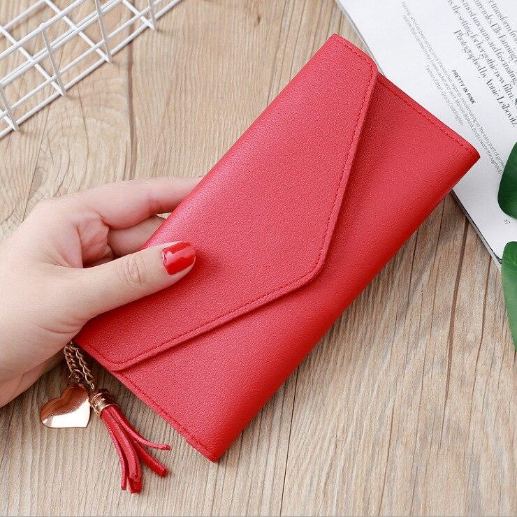 LISM 2019 Long Wallet Women Purses Tassel Fashion Coin Purse Card Holder Wallets Female High Quality Clutch Money Bag