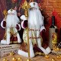 30 40 CM Christmas Decorations Santa Claus Dolls Standing Christmas Figurine Holiday Decoration Ornaments Window Decoration