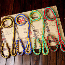 Woven collar eight-strand rope P chain pet traction in large dog manufacturers wholesale
