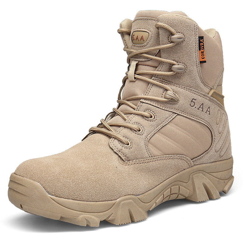 Cross Border For Boots Men's Hight-top Delta Combat Boots Large Size Desert Boots Anti-slip Wearable Tactical Boots Manufacturer