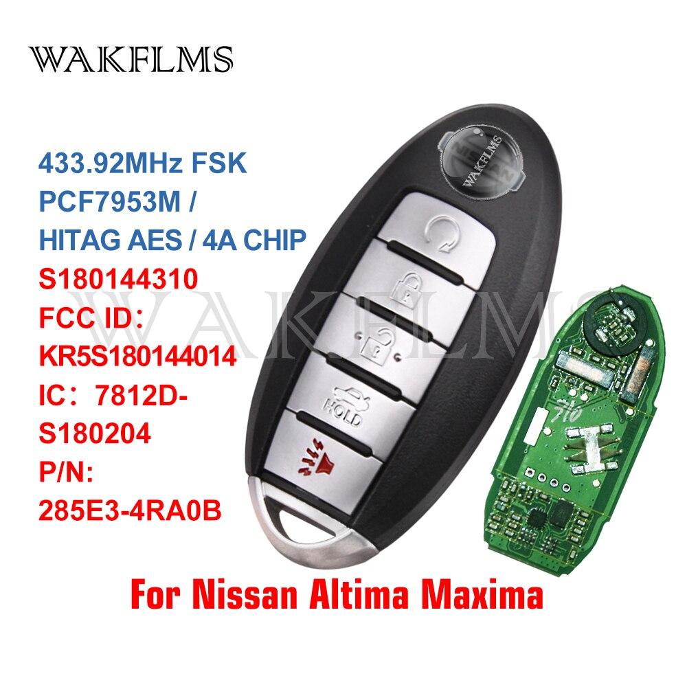 Для NISSAN Altima Maxima 2015 2016 2017 умный Бесконтактный Автомобильный ключ 433 МГц PCF7953M 285E3 4RA0B KR5S180144014 S180144310|Ключ от авто|   | АлиЭкспресс
