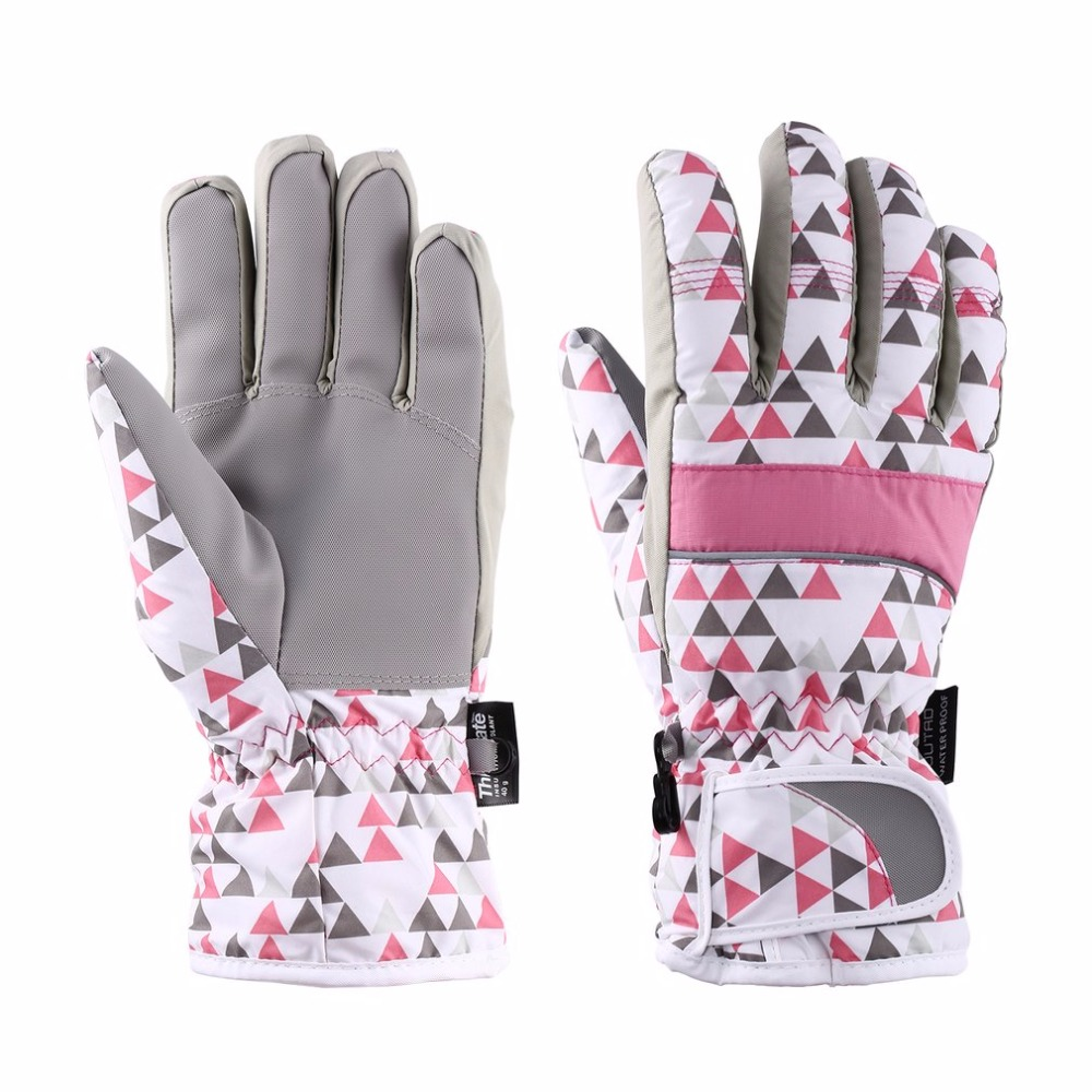 OUTAD Winter Gloves Outdoor Durable Breathable Windproof & Waterproof Snow Ski Gloves Warm Women Mountain Climbing Gloves