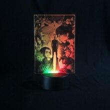 Led Night Lights  Anime Attacking Giant 3D Lamp Children