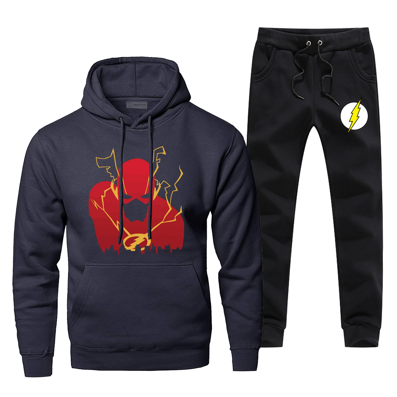 The Flash Hoodie Pants Set Allen Barry Men Sweatshirt Male Hoodies Sweatshirts Mens Sets Two Piece Pant Pullover Hoody Hero Coat