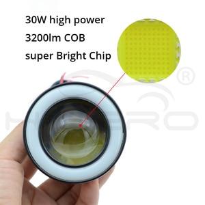 Image 3 - 2個64ミリメートル76ミリメートル89ミリメートルエンジェル · アイズcob led自動フォグランプ自動ユニバーサルデイタイムランニングライト白、赤、青ヘッドライト30ワットdc 12v