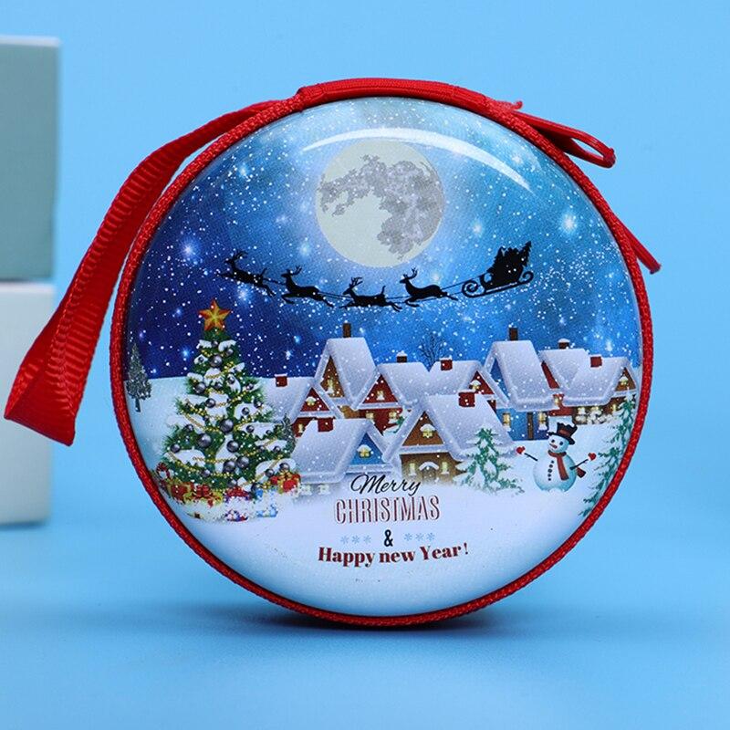 Лидер продаж, кошелек для монет с героями мультфильмов, Эльза, Анна, принцесса, чехол для ключей для девочек, кошелек, детский Снежная королева, гарнитура, сумка для монет - Цвет: Christmas6