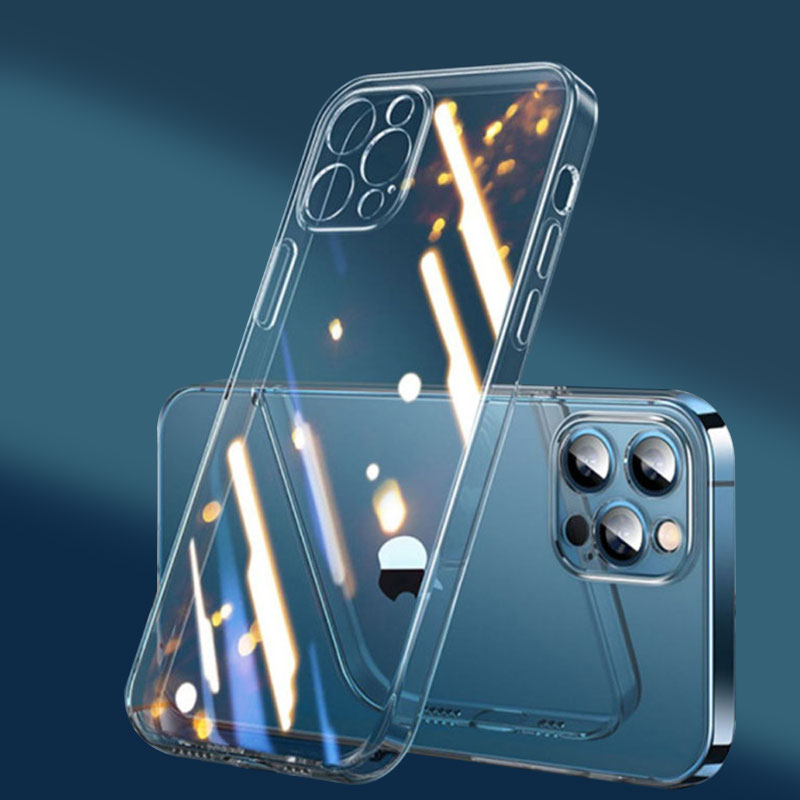 Caso de telefone transparente para iphone 11 12 pro xs max silicone à prova de choque caso iphone 8 plus 6 7 se 2020 xr para iphone x capa