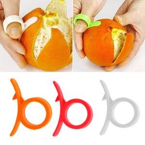 Кухонные гаджеты 5 шт., инструменты для приготовления пищи, Овощечистка, пальцевой тип, открытая Апельсиновая кожура, оранжевое устройство ...