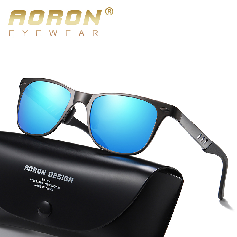 AORON New Aluminum Polarized Sunglasses For Men And Women Personality Fashion Sun Glasses Driver Eyeglasses UV Protection