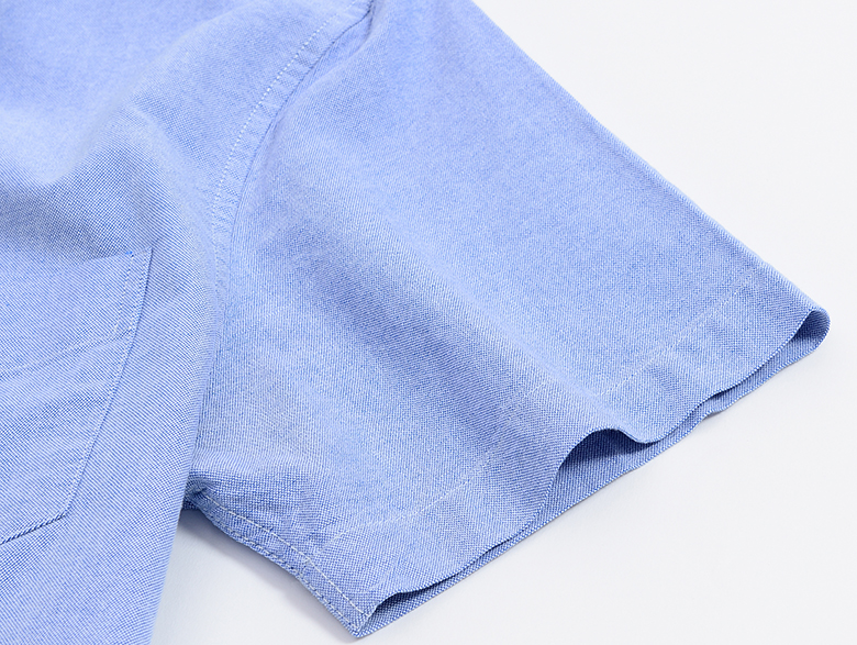 H6fefd0bc15fa47fea672daa0eca3fc0dG Men's Summer Pure Cotton Oxford Shirts Casual Slim Fit Design Short Sleeve Fashion Male Blouse Shirt