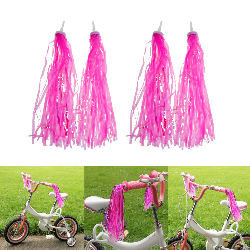 Bicycle Bike Streamers Tricycle Kids Girls Handlebar Grips Tassels 2 Pack KW