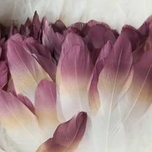 Градиентный цвет гусиное перо 15-20 см/6-8 дюймов DIY аксессуары Печатные перья для рукоделия Свадебные украшения