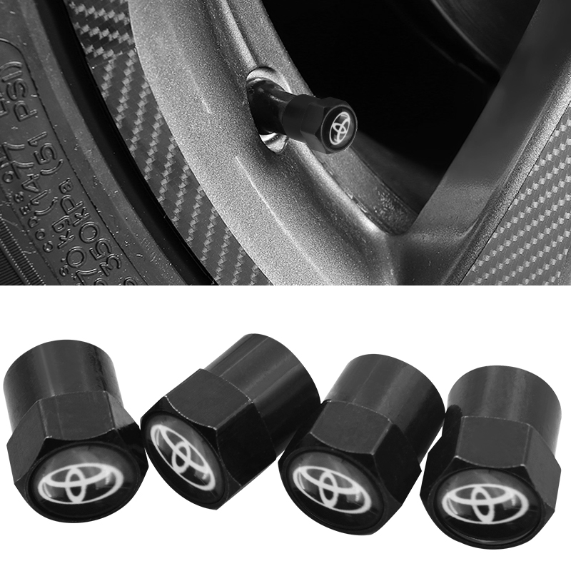 4 Pieces Car Wheel Tire Valve Plugs Protective Case For Toyota Corolla Chr Auris Rav4 Yaris Avensis Car Sticker Accessories