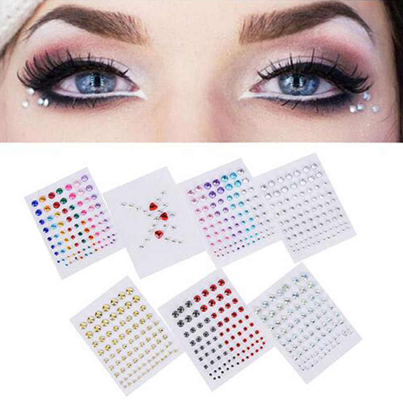 Tattoo Diamant Make-Up Eyeliner Oogschaduw Gezicht Sticker Jewel Ogen Make Kristal Body Gezicht Kunst Eyes Sticker Tijdelijke Tattoos