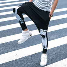 2020 Fashion Harem Pants Men Trainingsbroek Mannen pantalones harem hombre mens streetwear pants with hiphop pants heren kleding cheap Niarvic Pleated Lyocell REGULAR Hip Hop Midweight Ankle-Length Pants Elastic Waist M L XL Black -Music of the Tide Youth Popular