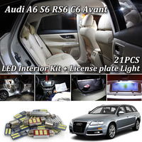 21pc X canbus 100% No Error for Audi A6 S6 RS6 C6 Avant Wagon LED Interior Dome Map Light Kit Package (2005 2011)
