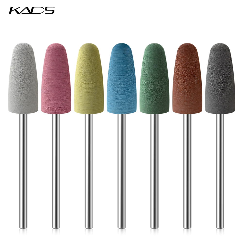 KADS Electric Nail File Rubber Nail Drill Bits Flexible Polisher Manicure Machine Nail Accessories Pedicure Milling Cutters
