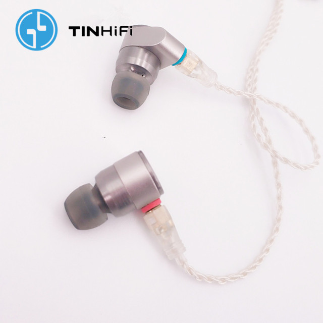 TINHIFI T2 2DD Double Dynamic Drive in Ear Earphone HiFi Bass DJ Metal headsets 3.5mm MMCX Cable Tin T1 T2 PRO T3 P1 24h ship 4