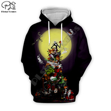 Halloween Christmas Jack sally Men 3d Hoodies women lovers couple Sweatshirt skull print tshirt Corpse Bride zipper pullover майка print bar jack skull