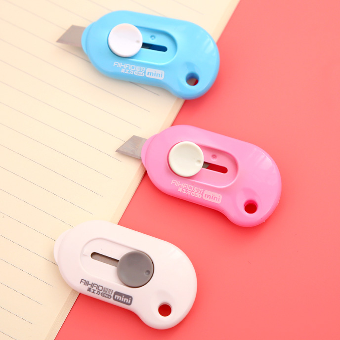 Cute Kawaii DIY Korean Aihao Paper Mini Cutter Letter Utility Knife School Office Home Supplies Stationery