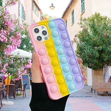 Phone-Case Fidget-Toys Soft-Cover Bubble Relive-Stress Silicone 8-Plus for 6 6s 7/8-plus/X/..