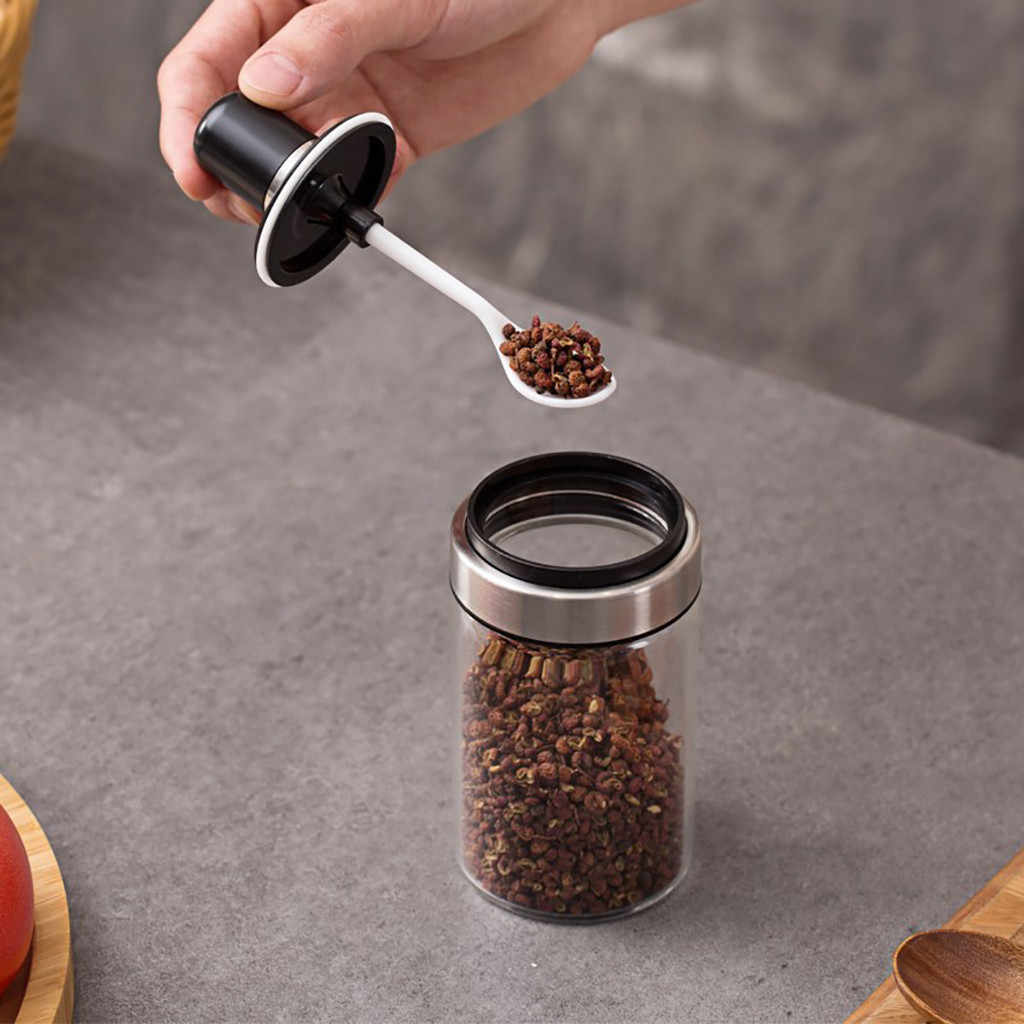 1 PC Kaca Jar Spice Wadah Bumbu Garam Bumbu Berkualitas Tinggi Botol Penyimpanan Alat Rumah Tangga Alat Yang Berguna DROP Kapal # r5