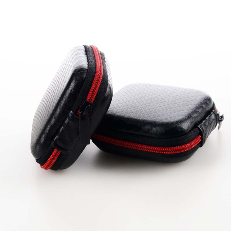 Mini Multifunction Earphones Storage Box Headset Data Line USB Cable SD Card Organizer Case Bag