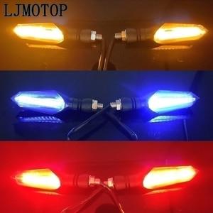 Image 5 - 12 V الصمام دراجة نارية بدوره إشارة أضواء موتو الذيل أضواء إشارة مصباح لياماها YZF YZ F 125 250 350 450 505 R1 R6 FZ1