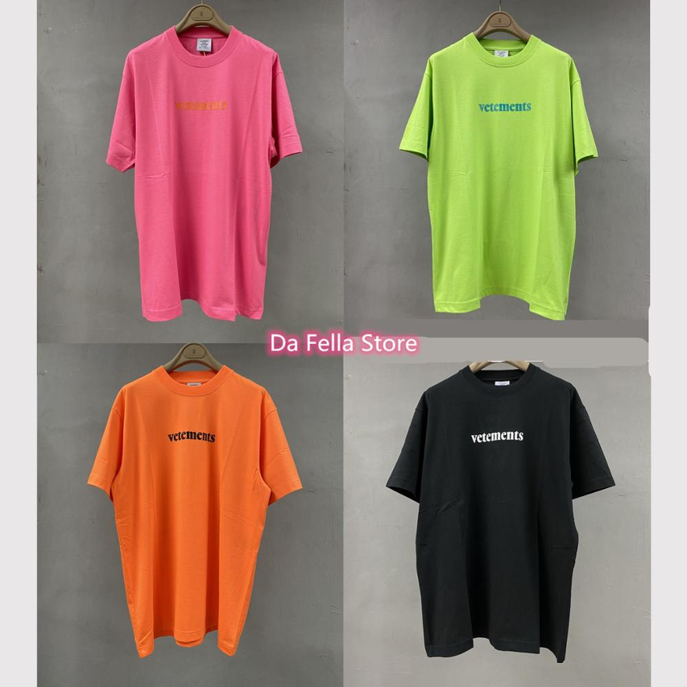 Colors Vetements Tee 2020SS Vetements Tracking T-shirt Men Women 1:1 High Quality VTM Postage Label T-shirts Tops