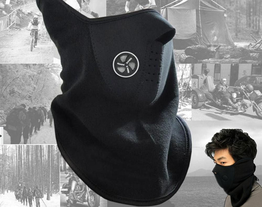 Outdoor Sports Windproof Warm Winter Neck Face Mask Motorcycle Half Face Mask Cover Cycling Riding Snowboard Balaclava Ski Mask