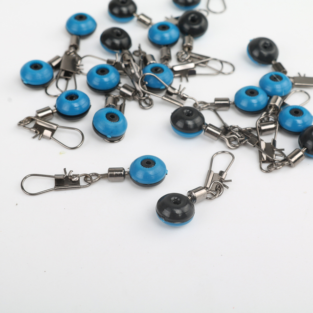 20Pcs Fishing Float Rolling Swivel Supplies With Tackle Tool Fishing Line To Hook Ring Ocean Rock Fshing Accessories 2