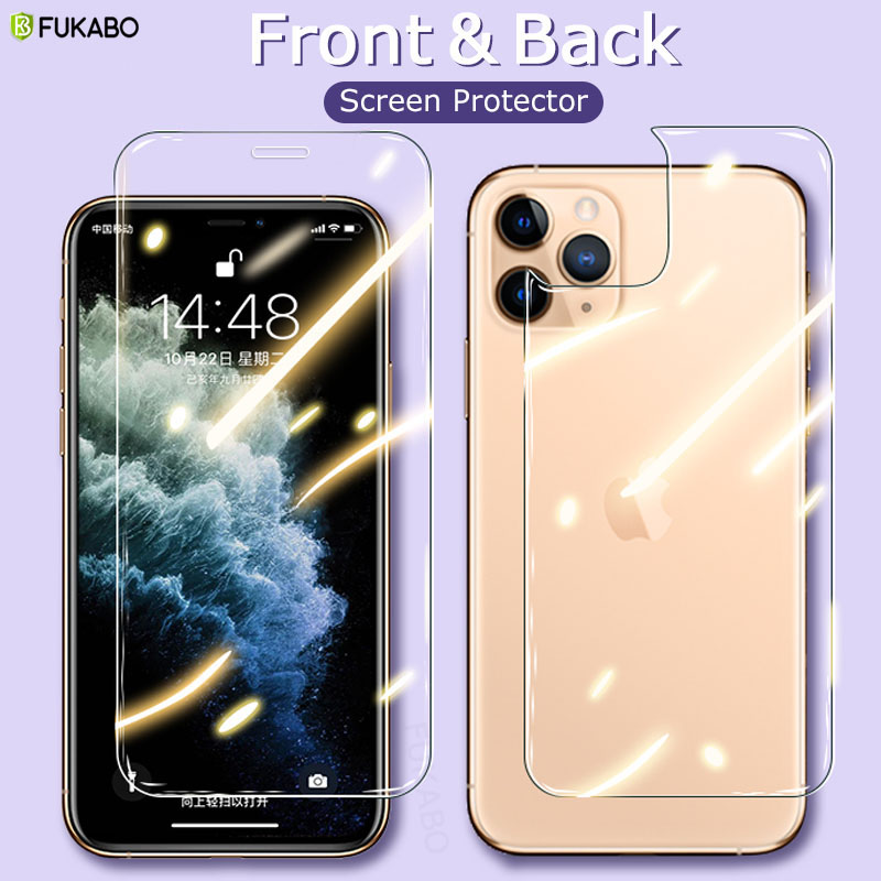 Vidrio Protector completo frontal y trasero para iPhone 11 Pro Max XS XR X SE 2020 Protector de pantalla para iPhone 7 8 Plus 6s 5s Film Cover